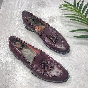 Paul Smith Men Only Maroon Tassel Loafers Flats